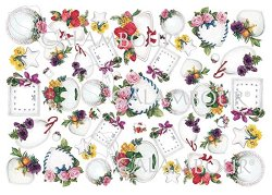 Декупажна хартия - Рамки с цветя
