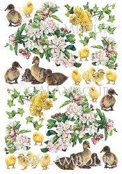 Декупажна хартия - Патенца с цветя 74