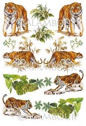 Декупажна хартия - Тигри 61