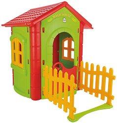 Детска сглобяема къща за игра с ограда - Magic House -