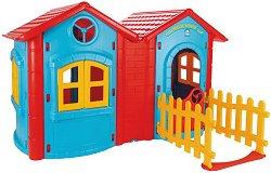 Сглобяема двойна къща за игра с ограда - Magic House - играчка