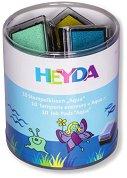 Цветни мастилeни тампони - Aqua - Комплект от 10 цвята
