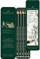 Моливи - Castell 9000 Jumbo - Комплект 5 броя в метална кутия