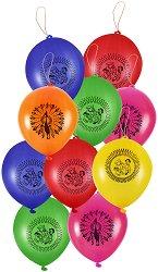 Парти балони с ластик - Комплект от 50 броя -