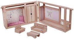 Къща за кукли - Детска дървена играчка -