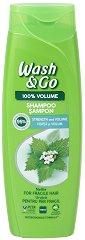 Wash & Go Shampoo With Nettle Extract - Шампоан за тънка и късаща се коса с екстракт от коприва - маска