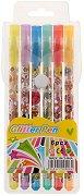 Цветни химикалки с блестящ гел - Комплект от 6 цвята
