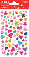 Релефни стикери - Сърца и звезди - Комплект от 83 броя