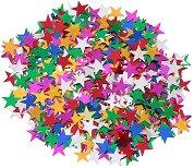 Декоративни фигурки - Разноцветни звездички - Опаковка от 15 g