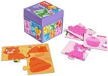 Цветове - Комплект 6 пъзела в кутия - пъзел
