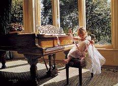Малка балерина до пиано - Сандра Кук (Sandra Kuck) -