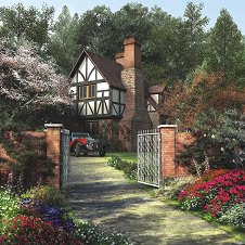 Kъща сред дърветата - Доминик Дейвисън (Dominic Davison) - пъзел