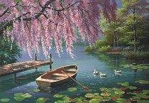 Красива пролетна върба - Сонг Ким (Sung Kim) - пъзел