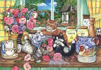 Котки в кухнята - Деби Куук (Debbie Cook) - пъзел