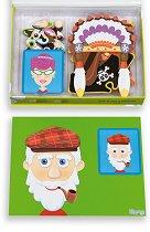 Забавни лица - Дървени фигурки с магнит - продукт