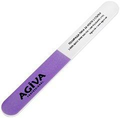 """Полираща пила за нокти в три стъпки - От серията """"Agiva Professional"""" - крем"""