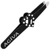 """Пинсета със скосен връх и декорации - От серията """"Agiva Professional"""" -"""