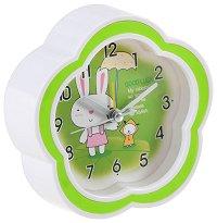 Зайче и кученце - Детски настолен часовник