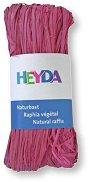 Натурална рафия - розова - Опаковка от 50 g