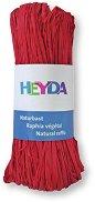 Натурална рафия - червена - Опаковка от 50 g