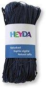 Натурална рафия - морско синя - Опаковка от 50 g