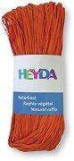 Натурална рафия - оранжева - Опаковка от 50 g