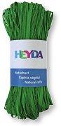 Натурална рафия - ябълково зелена - Опаковка от 50 g