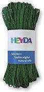 Натурална рафия - зелена - Опаковка от 50 g