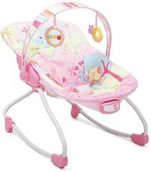 Бебешки шезлонг - Merry: Pink - С вибрация и мелодии -