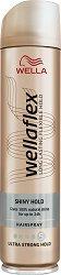 Wellaflex Shiny Hold Ultra Strong Hold Hairspray - маска