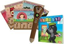Умна писалка - Мечо - Образователна играчка с карти и книжка - играчка