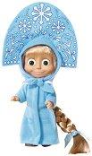 """Маша със зимна рокля - Кукла от серията """"Маша и мечока"""" - играчка"""