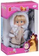 """Маша с палто - Кукла от серията """"Маша и мечока"""" - играчка"""