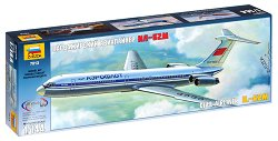 Пътнически самолет - ИЛ-62М - Сглобяем авиомодел - макет