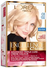 L'Oreal Excellence Creme - Трайна крем боя за коса със защитна технология - душ гел