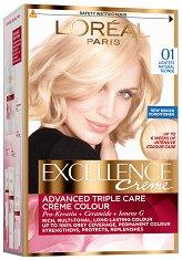 L'Oreal Excellence Creme - Трайна крем боя за коса със защитна технология - спирала