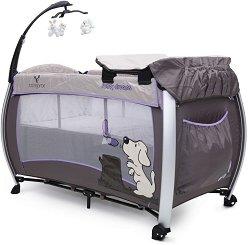 Сгъваемо бебешко легло на две нива - Funny dreams: Purple -