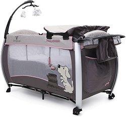 Сгъваемо бебешко легло на две нива - Funny dreams: Pink - продукт
