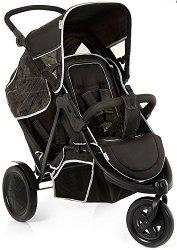 Комбинирана бебешка количка за близнаци - Freerider: Black - С 3 колела -