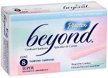 Playtex Beyond Super - Дамски тампони с апликатор в опаковка от 8 броя -