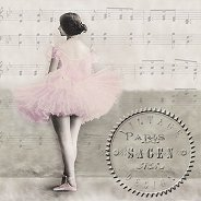 Салфетки за декупаж - Балерина - Пакет от 20 броя