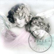 Салфетки за декупаж - Ангел и момиче