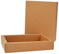 Правоъгълна кутия от крафт картон - Предмет за декориране с размери 19 / 24 / 4 cm