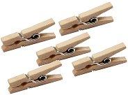 Натурални дървени щипки - Комплект от 100 броя с дължина 48 mm