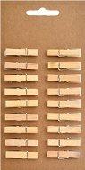 Натурални дървени щипки - Комплект от 18 броя с дължина 35 mm