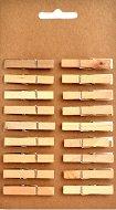 Натурални дървени щипки - Комплект от 18 броя с дължина 45 mm