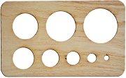 Дървен шаблон за квилинг - Размери 15 x 9 cm