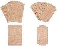 Мини разгънати кутийки от крафт картон - Комплект от 10 броя
