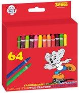 Цветни пастели - Комплект от 64 броя