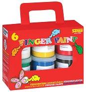Бои за рисуване с пръсти - Комплект от 6 броя